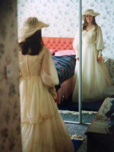 Me in my Mum's wedding dress