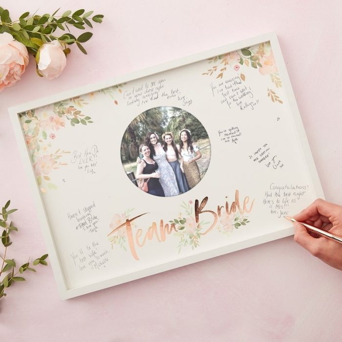Team Bride Guest Book Frame