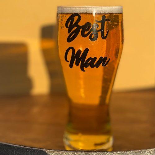 Best Man Pint Glass