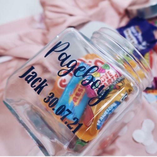 Personalised Page Boy Sweets Jar