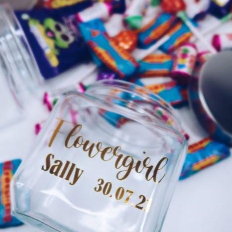 Personalised Flower Girl Sweets Jar